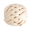 Wood Round Weaved Acrylic Center 20mm Natural